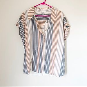 Striped Relaxed Fit Blouse